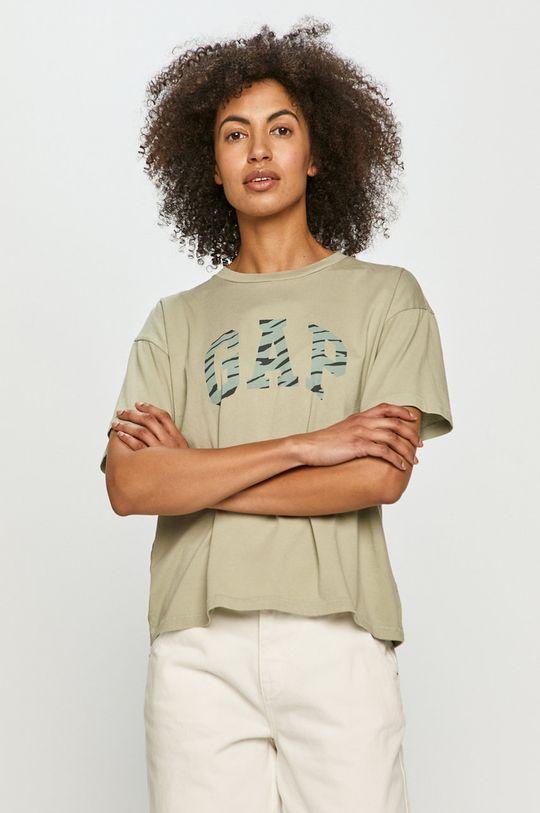 olivová GAP - Tričko Dámský