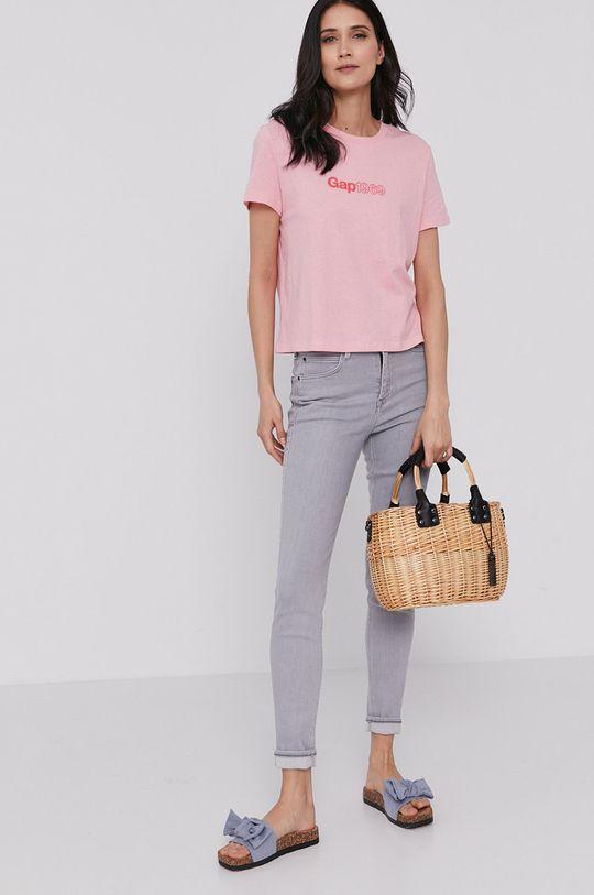 GAP - T-shirt różowy