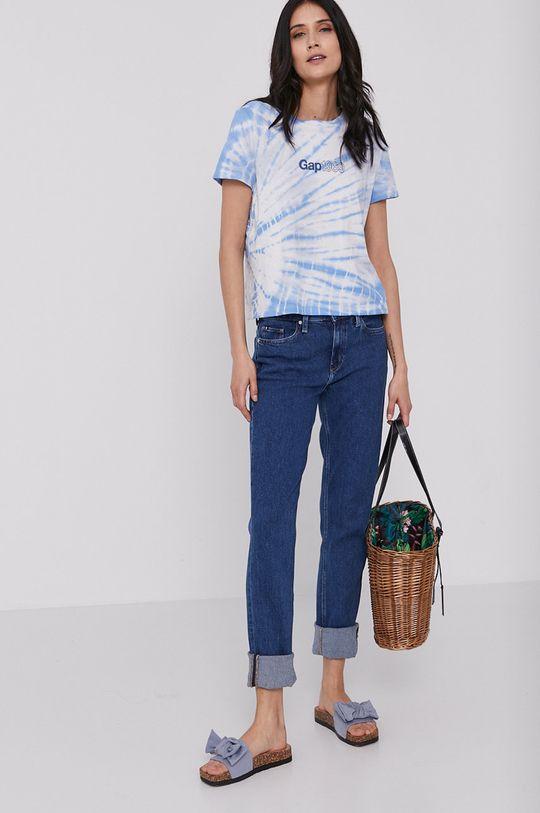 niebieski GAP - T-shirt Damski