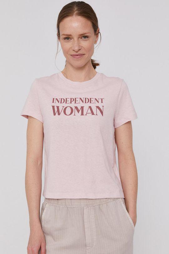 czerwony róż GAP - T-shirt Damski