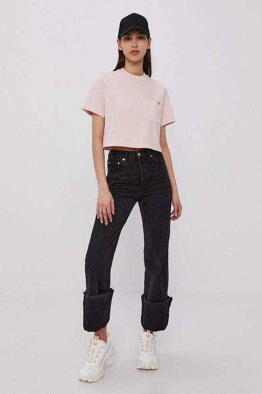 Dickies - T-shirt pastelowy różowy