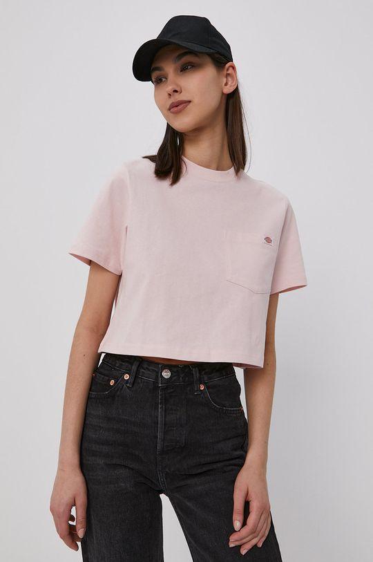 pastelowy różowy Dickies - T-shirt