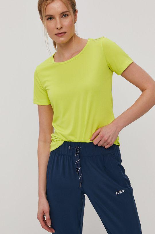 żółto - zielony CMP - T-shirt Damski