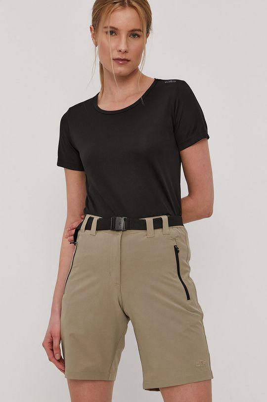 czarny CMP - T-shirt Damski