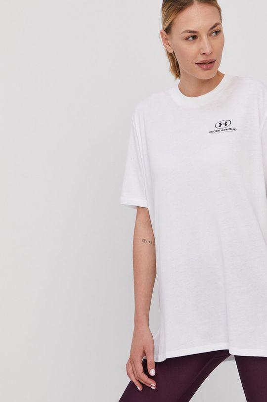 Under Armour - T-shirt biały