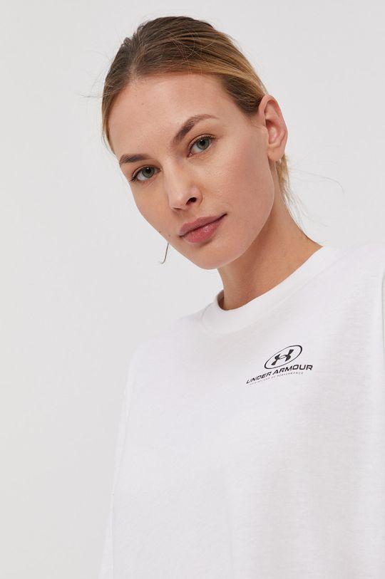 biały Under Armour - T-shirt