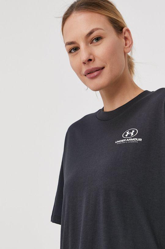 czarny Under Armour - T-shirt Damski