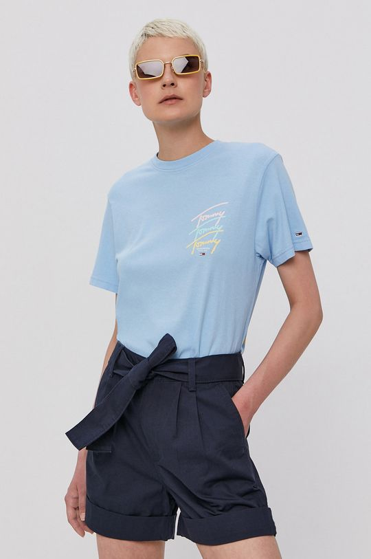 modrá Tommy Jeans - Tričko Dámsky