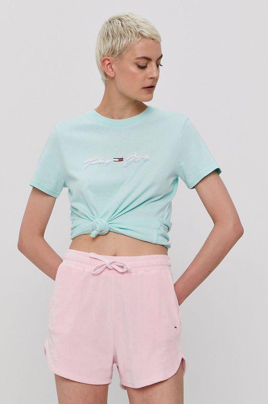 zielony Tommy Jeans - T-shirt Damski