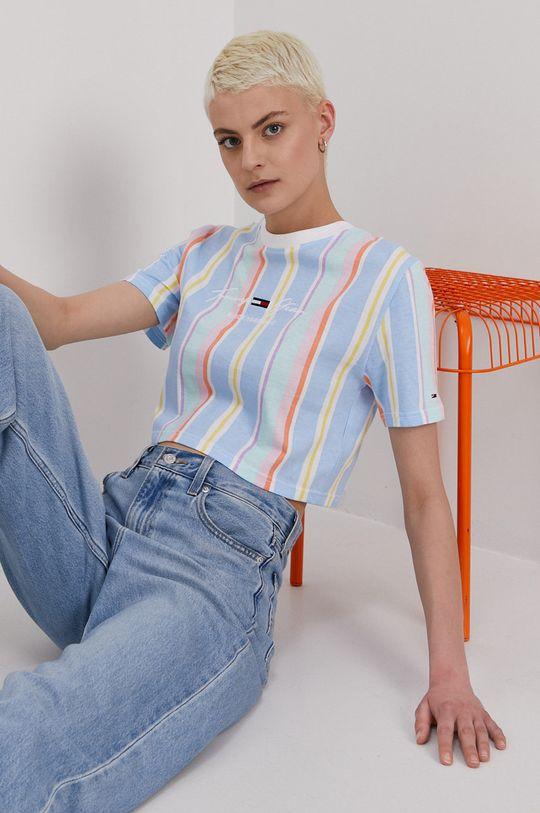 niebieski Tommy Jeans - T-shirt Damski