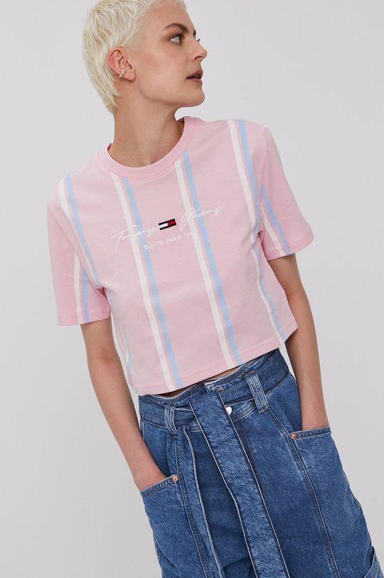 ružová Tommy Jeans - Tričko Dámsky