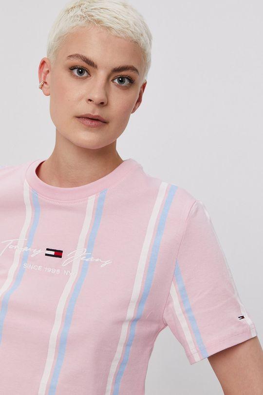 ružová Tommy Jeans - Tričko