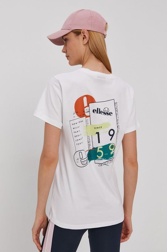 biały Ellesse - T-shirt bawełniany Damski