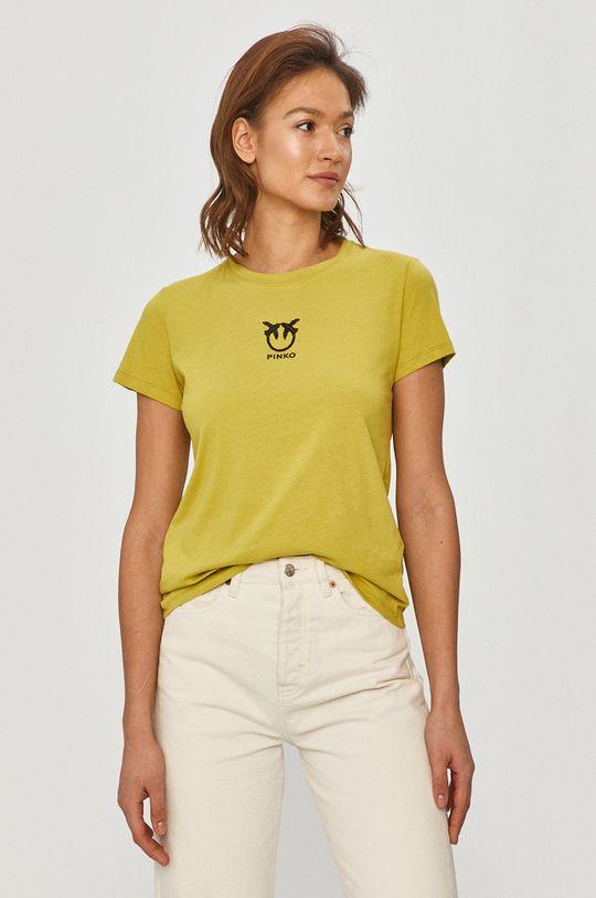 žlto-zelená Pinko - Tričko Dámsky