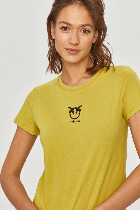 žlto-zelená Pinko - Tričko