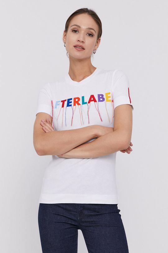 biały After Label - T-shirt Damski