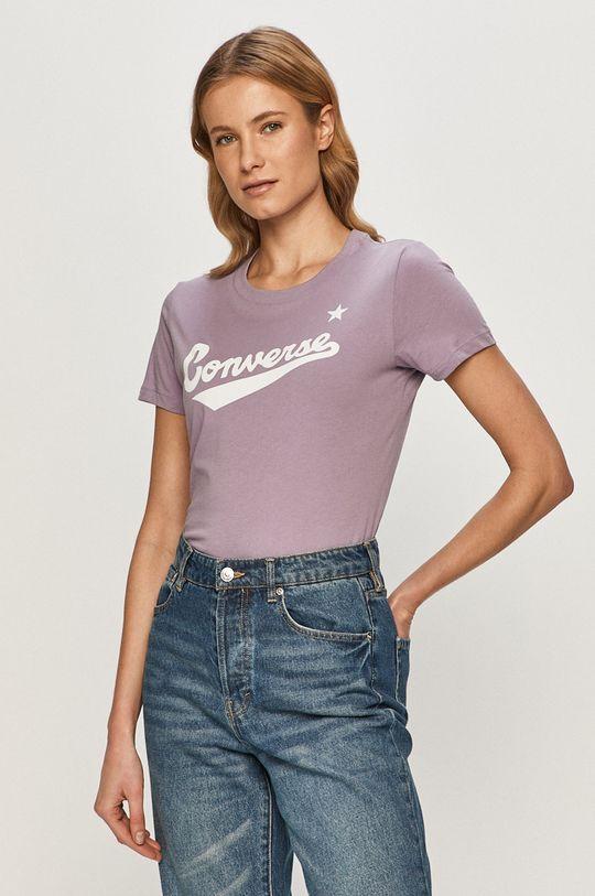fioletowy Converse - T-shirt Damski