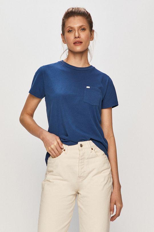 granatowy Lee - T-shirt Damski