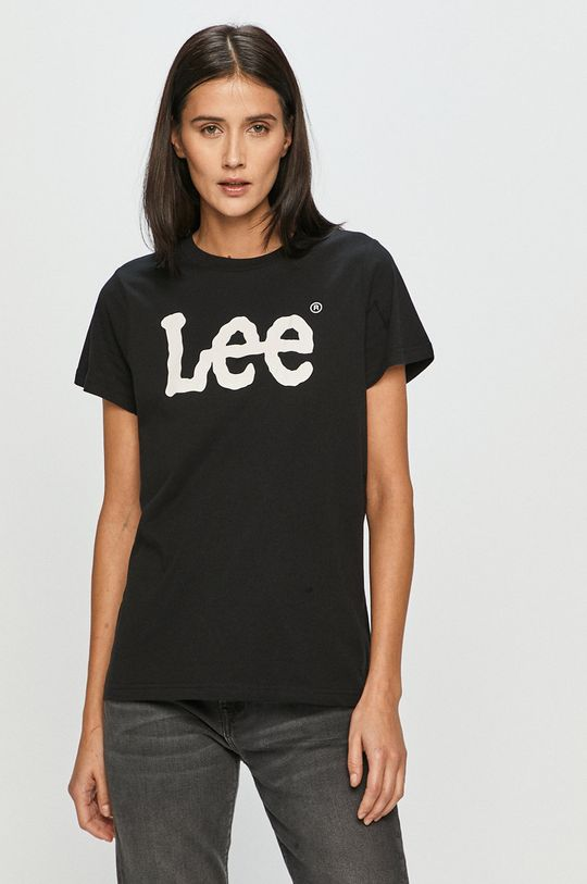 czarny Lee - T-shirt Damski