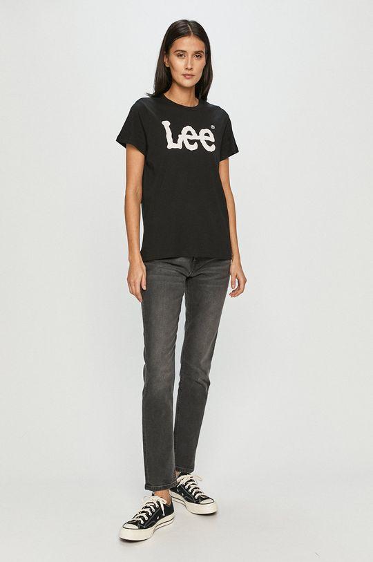 Lee - T-shirt czarny