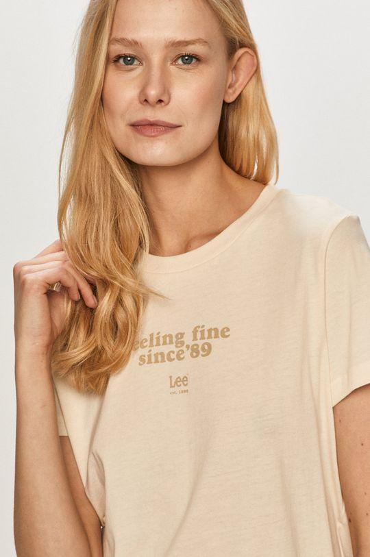 kremowy Lee - T-shirt