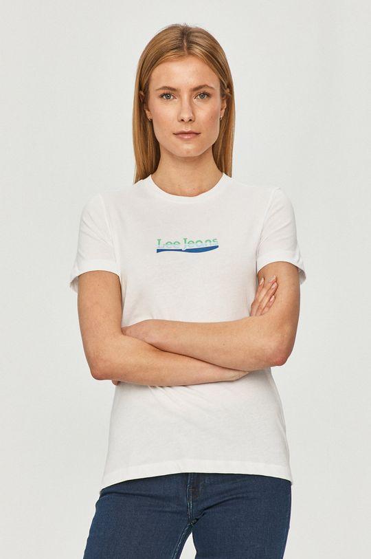 biały Lee - T-shirt Damski