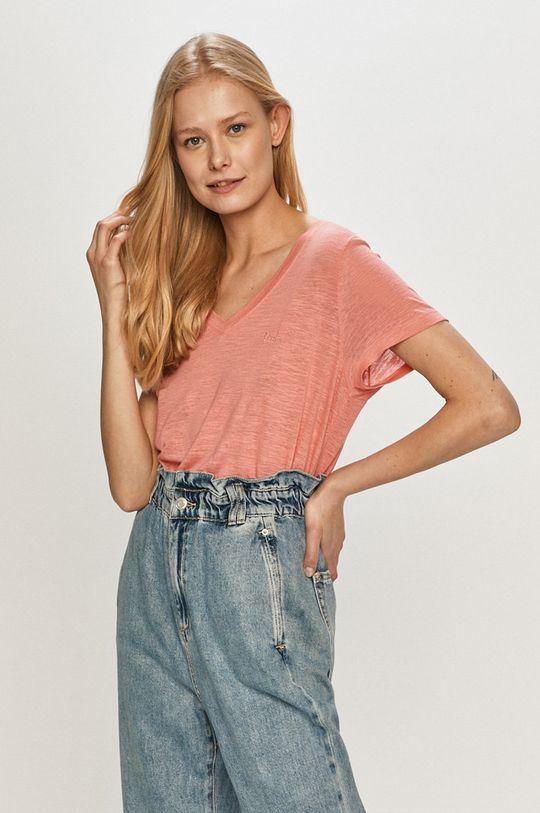 koralowy Lee - T-shirt Damski