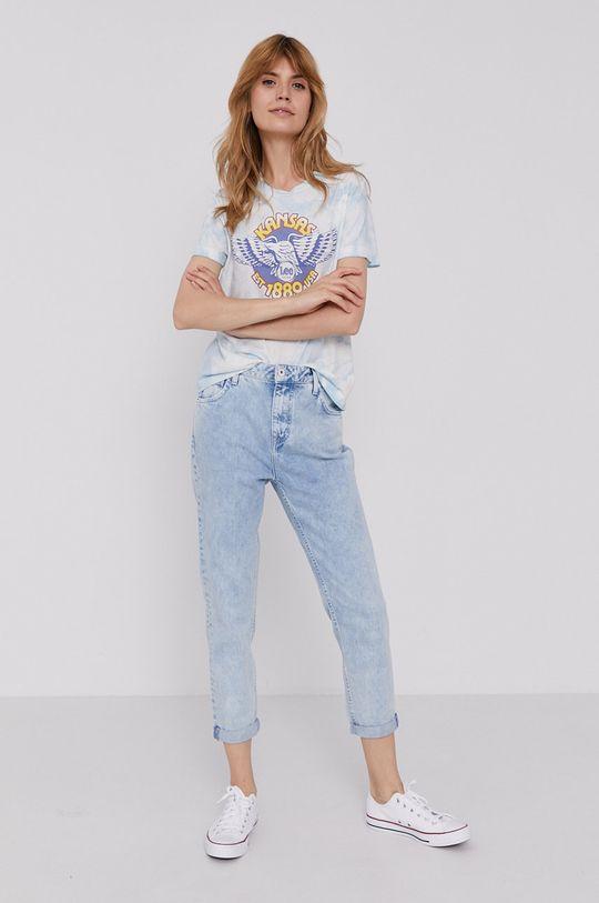 Lee - T-shirt blady niebieski