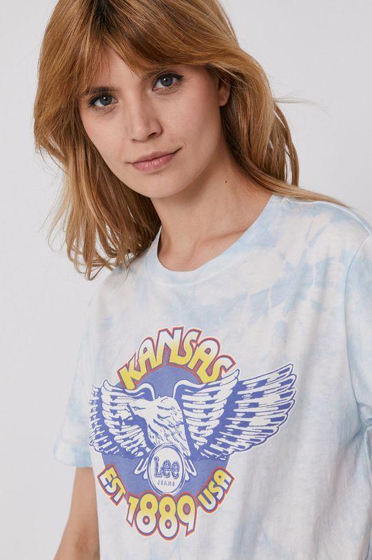 blady niebieski Lee - T-shirt