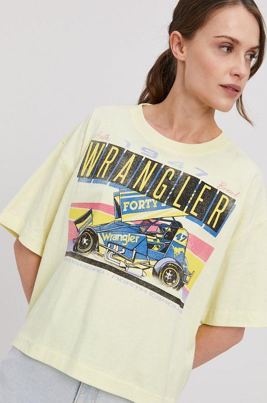 jasny żółty Wrangler - T-shirt Damski