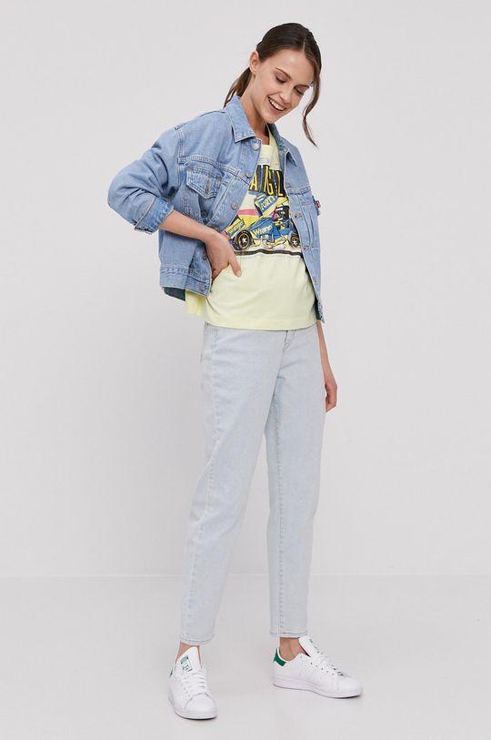 Wrangler - T-shirt jasny żółty
