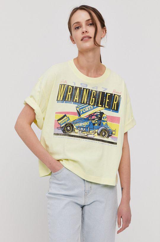 jasny żółty Wrangler - T-shirt