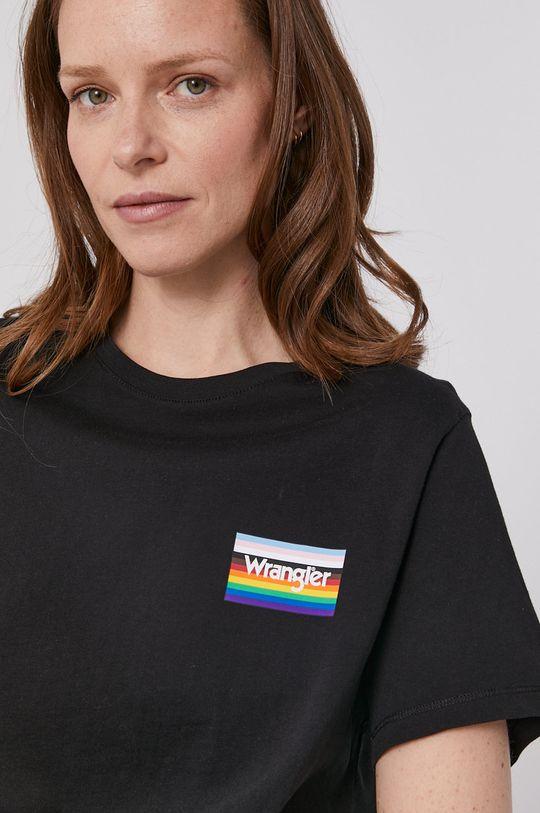 czarny Wrangler - T-shirt