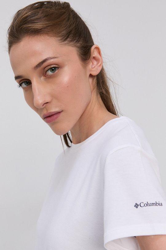 biały Columbia - T-shirt Damski