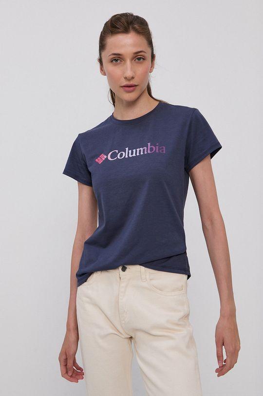 granatowy Columbia - T-shirt Damski