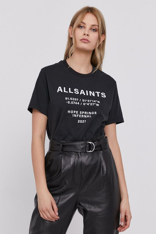 czarny AllSaints - T-shirt Damski