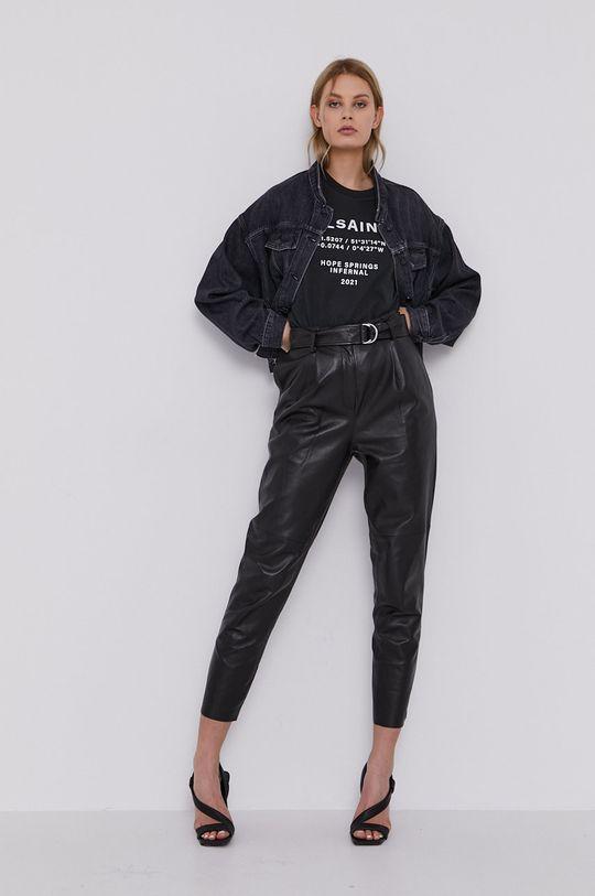 AllSaints - T-shirt czarny