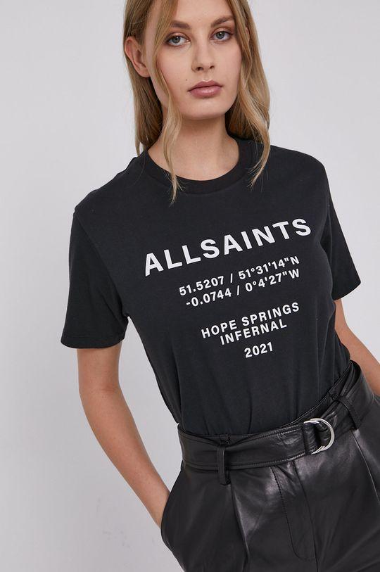 czarny AllSaints - T-shirt