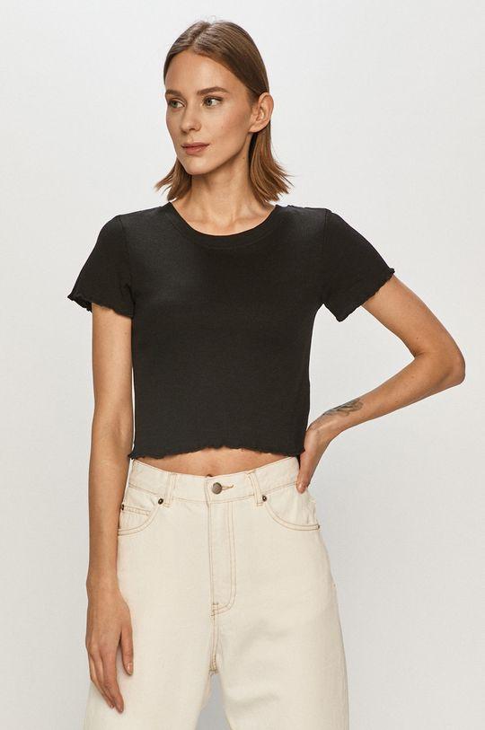 czarny Brave Soul - T-shirt Damski