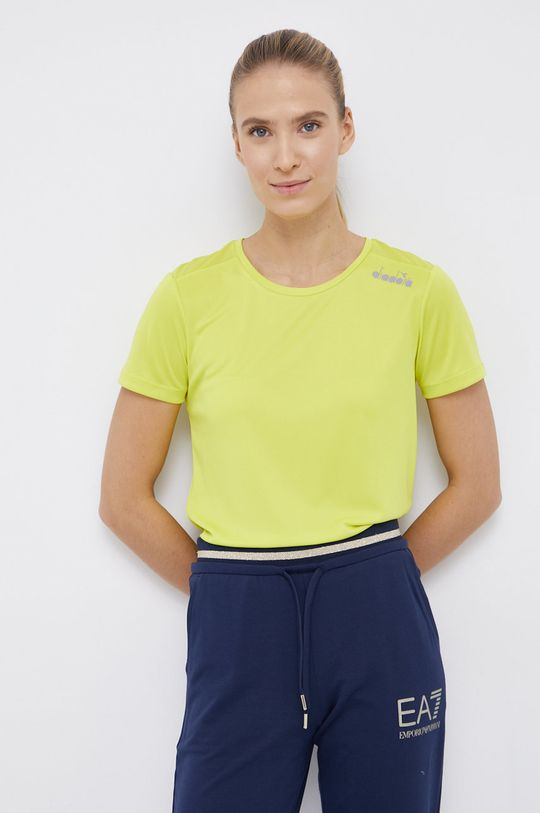 żółto - zielony Diadora - T-shirt Damski