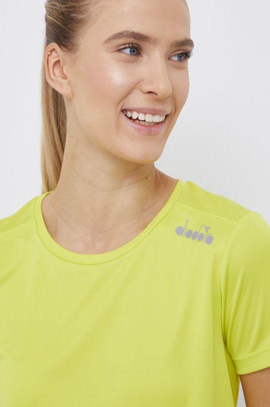 żółto - zielony Diadora - T-shirt