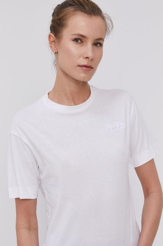 biały Diadora - T-shirt Damski