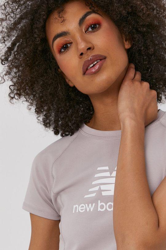 lawendowy New Balance - T-shirt