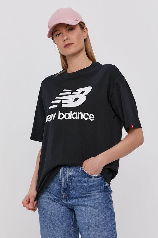 czarny New Balance - T-shirt