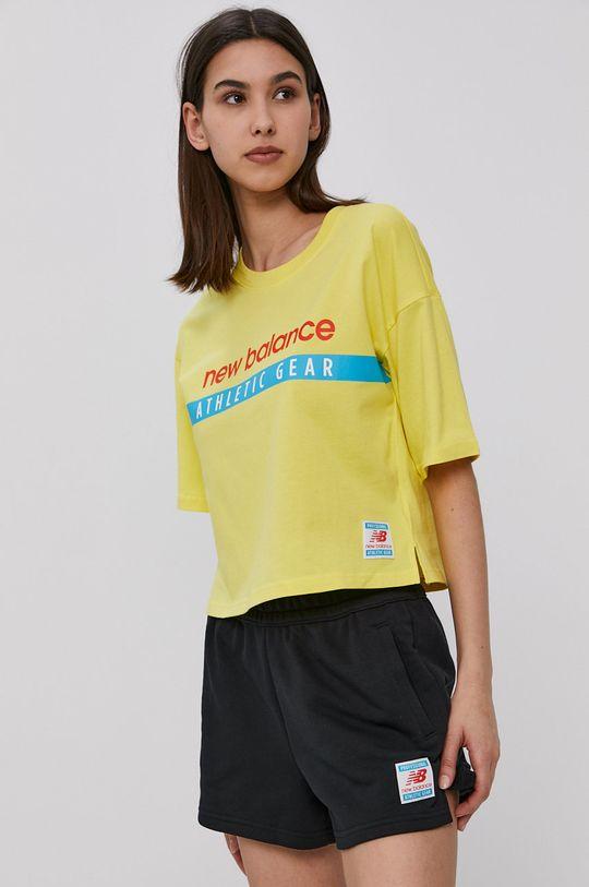 żółty New Balance - T-shirt Damski