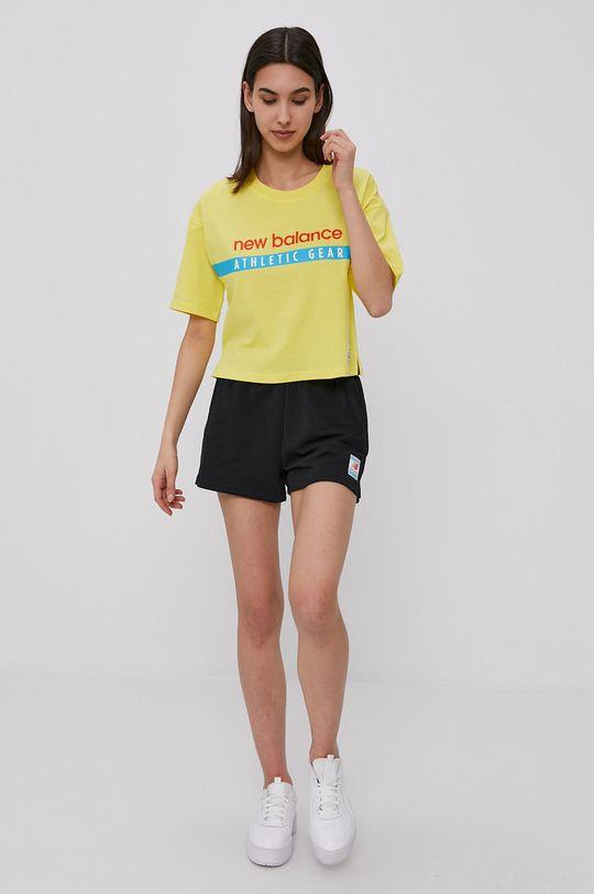 New Balance - T-shirt żółty
