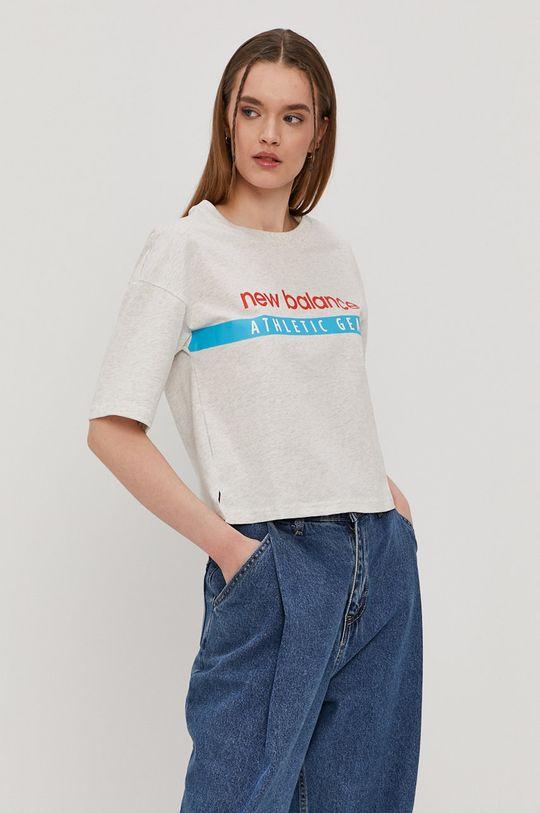 jasny szary New Balance - T-shirt Damski