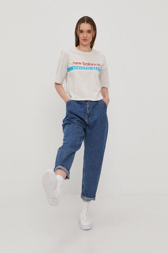 New Balance - T-shirt jasny szary