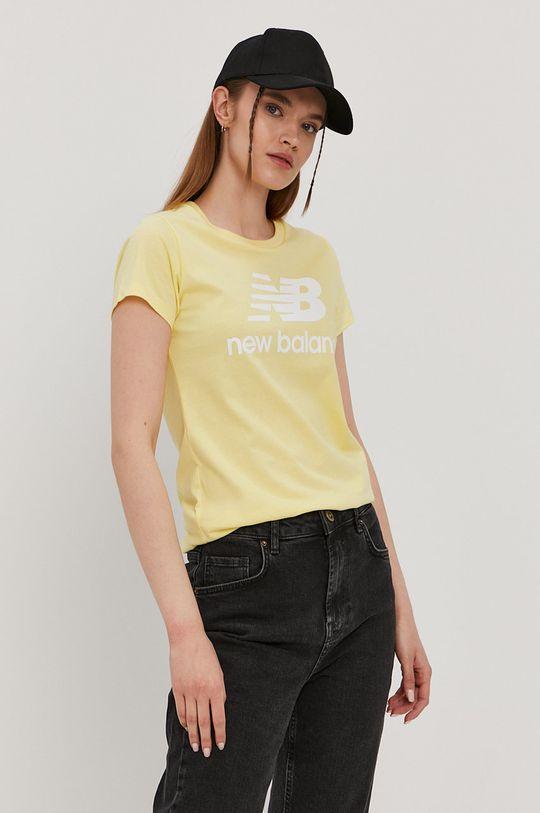 jasny żółty New Balance - T-shirt Damski