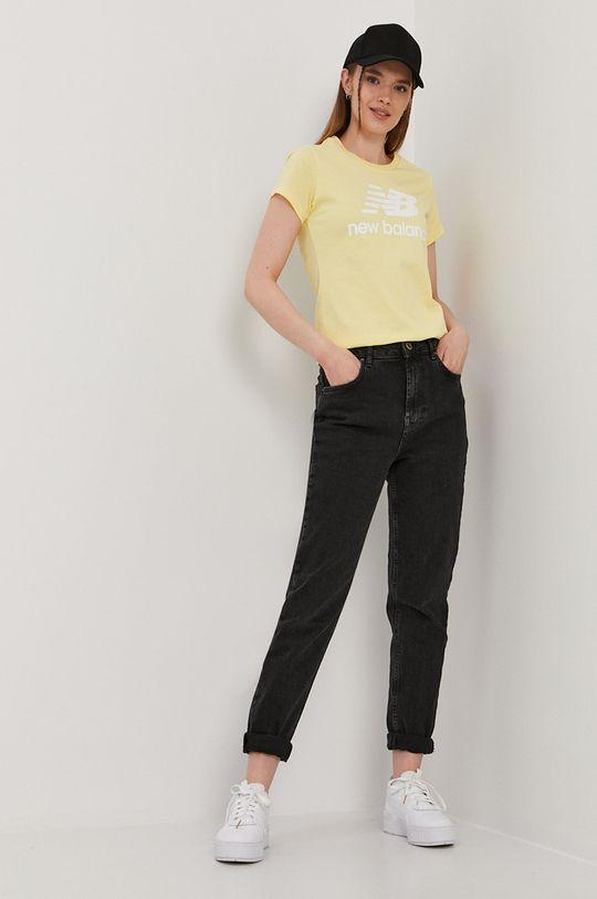 New Balance - T-shirt jasny żółty